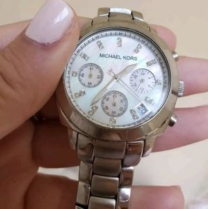 Michael kors watch mother of pearl face